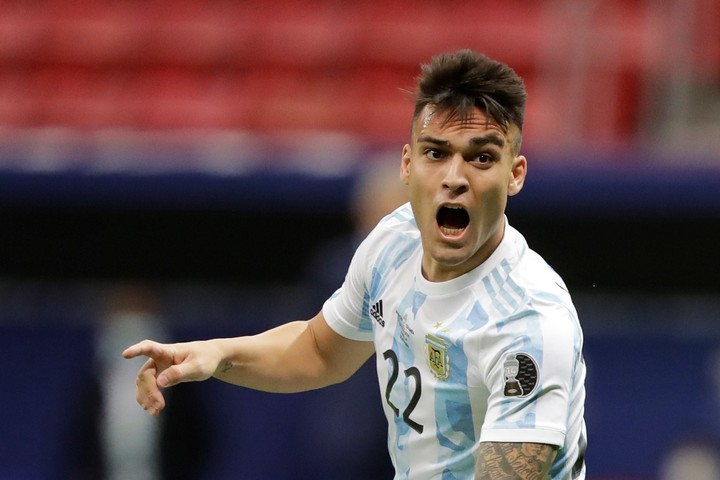 Lautaro Martínez scored 17 goals in the last season of Serie A. In this Copa América he has three.  (Photo: Joedson Alves / EFE)