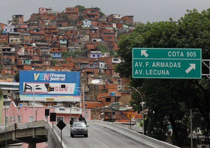 The Cota 905 neighborhood in Caracas came under fire this week.  Photo: AP