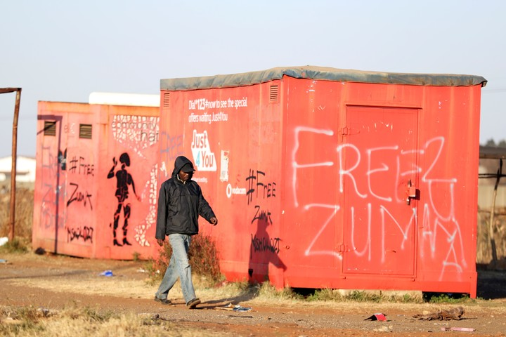 The claim of supporters of Jacob Zuma, in South Africa.  Reuters photo