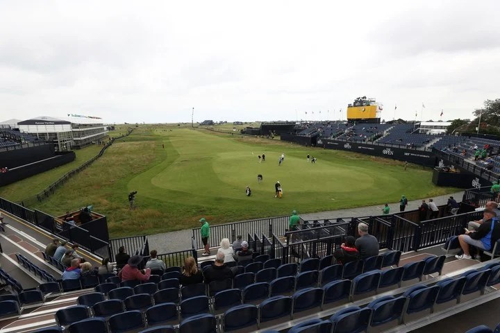 A view of the green and fairway of the 18th hole at Royal St. George's where the British Open will be played.  AP Photo / Ian Walton