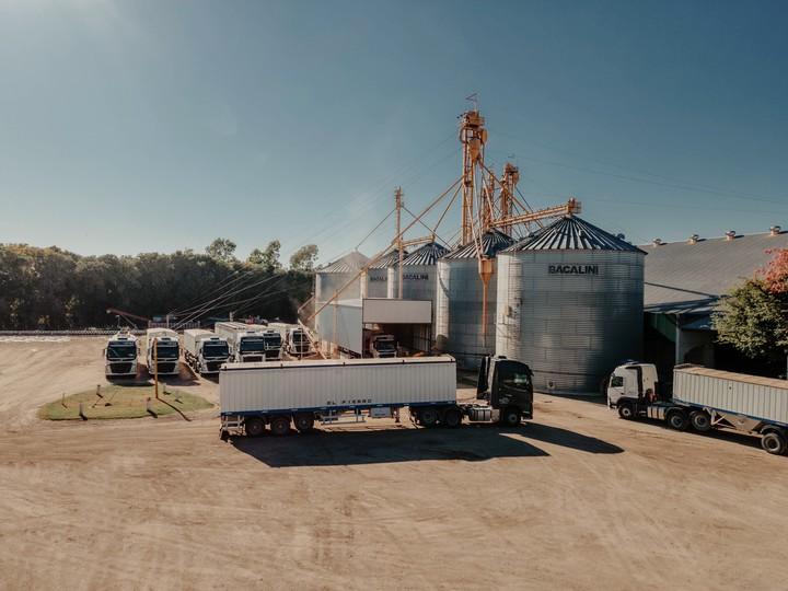 La empresa cuenta con 22 camiones propios y capacidad de almacenaje para 54.000 toneladas de granos.
