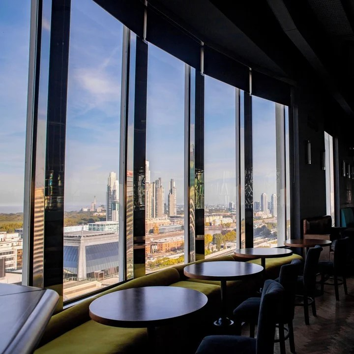The view of the Buenos Aires skyline from Trade Sky bar was highlighted by international media.