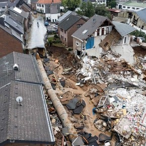 Shocking images of deadly floods in Germany with hundreds dead and missing