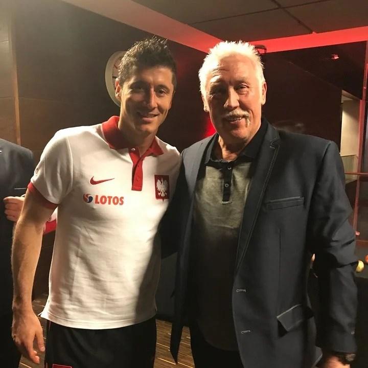 Kozakiewicz and Robert Lewandowski, one of the greatest Polish sports figures of our time.  Photo: Instagram