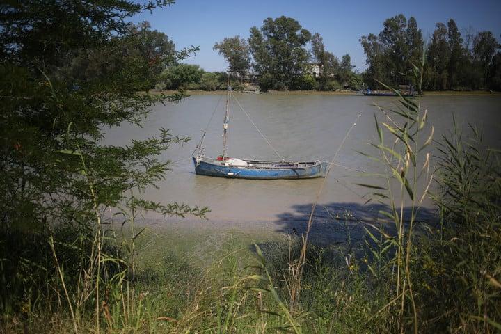 The Guadalquivir river in Coria del Rio, where the Japanese expedition stayed.  Photo Cézaro De Luca
