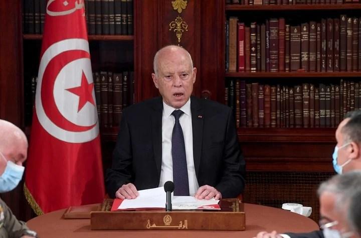 Tunisian President Kais Saied.  Photo: AP