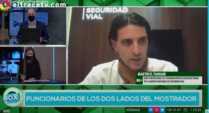 """Martín El Tahham, another of the officials """"from both sides of the counter"""", to which Jorge Lanata put the focus.  Capture PPT"""