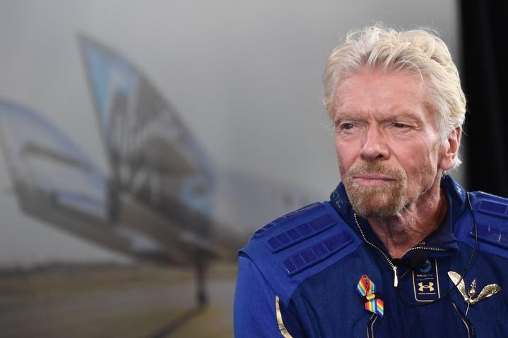 Richard Branson rose 86 km.  Photo Patrick T. FALLON / AFP