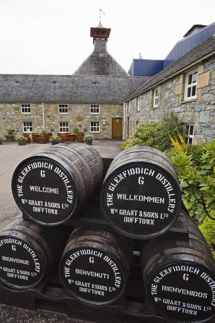 The Glenfiddich Distillery, in Dufftown, Scotland.