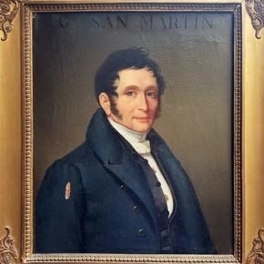 An unknown portrait of General San Martín was found in France