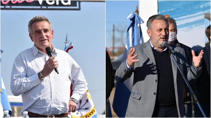 Agustín Rossi and Marcelo Lewandowski, candidates for senators of the Frente de Todos for Santa Fe.