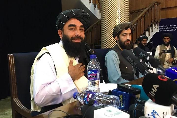 Zabihullah Mujahid, the spokesman for the Taliba.  Photo: AFP