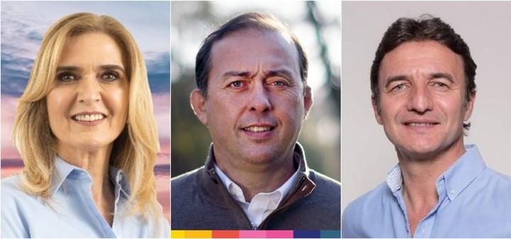 Silvia Elías de Pérez, Ramiro Beti and Roberto Sánchez, candidates for deputies of the Frente de Todos in Tucumán.