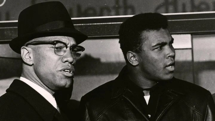 Malcolm X y Muhammad Ali.