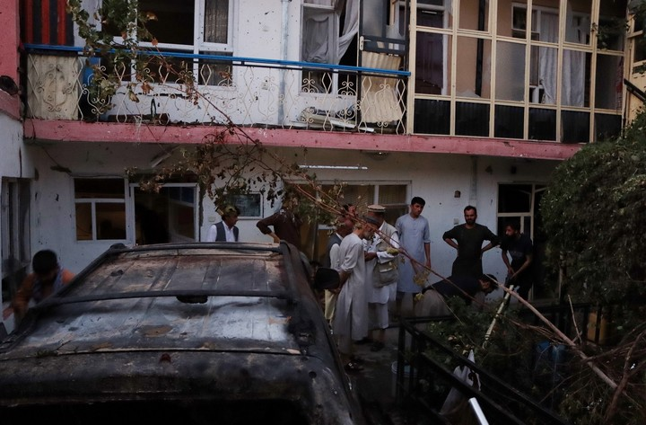 The US attack near the Kabul airport.  Photo EFE