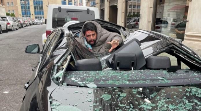 El BMW amortiguó la caída del hombre de 31 años.