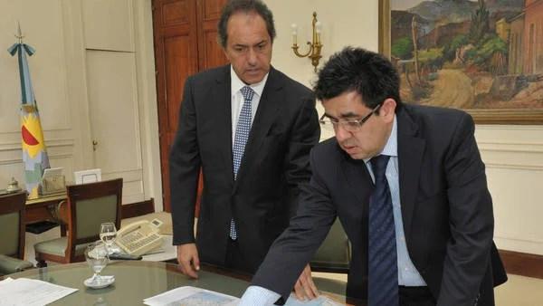 Alejandro Arlia junto a Daniel Scioli