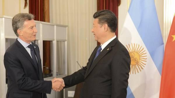 Macri con el presidente Xi Jinping, en marzo pasado, durante la Cumbre Nuclear de Washington