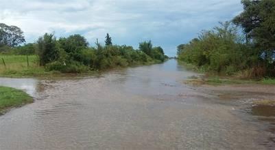 En la cuenca lechera de Santa Fe, por ejemplo en Providencia, los caminos están intransitables por la acumulación de agua.