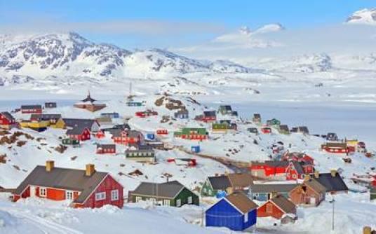 Casas en Groenlandia (Getty Images)