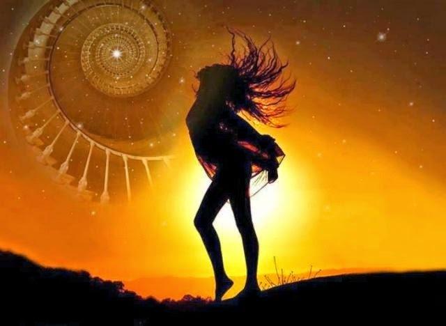 Girl Sunset Spiral