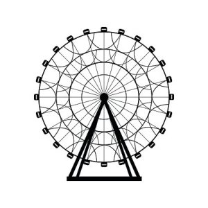 Ferris Silhouette Circle Carnival Funfair Background