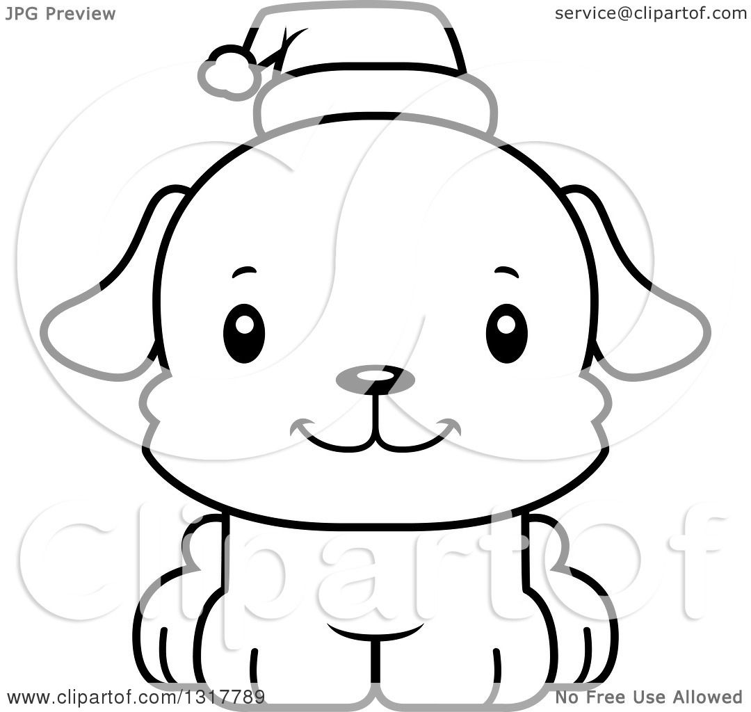 Animal Lineart Clipart Of A Cartoon Black And Whitecute