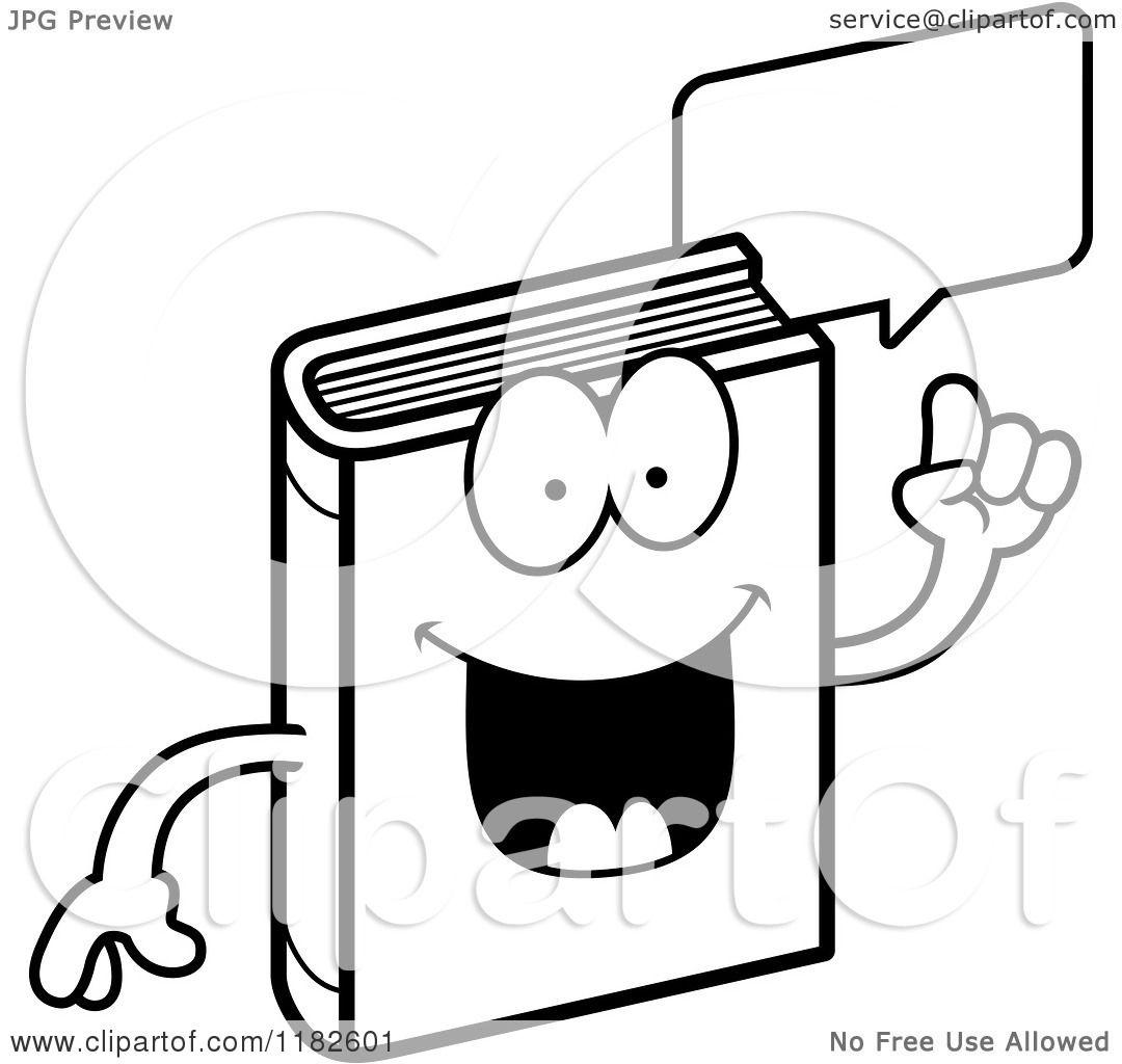 Black And White Talking Book Mascot