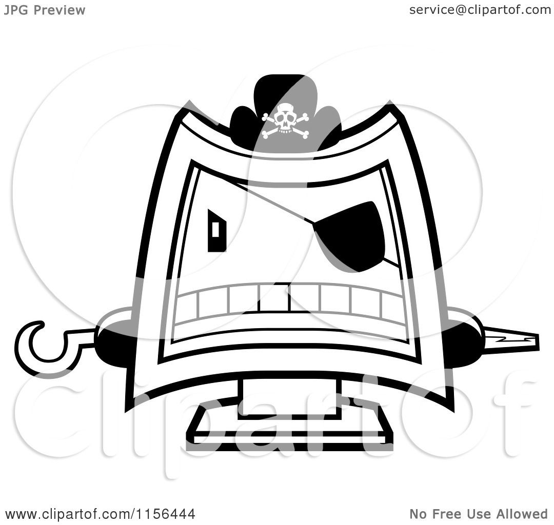 Pirate Eye Patch Coloring Page