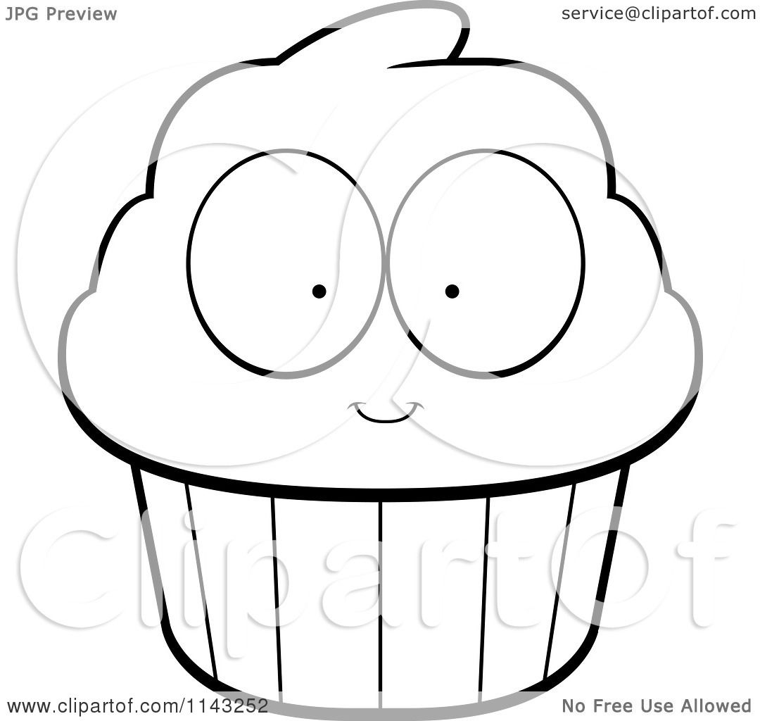 Pin Clip Art Illustration Of A Pink Cupcake Silhouette
