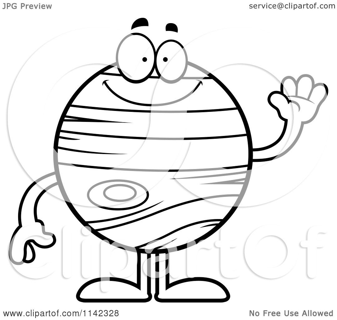 Solar System Clipart Black And White