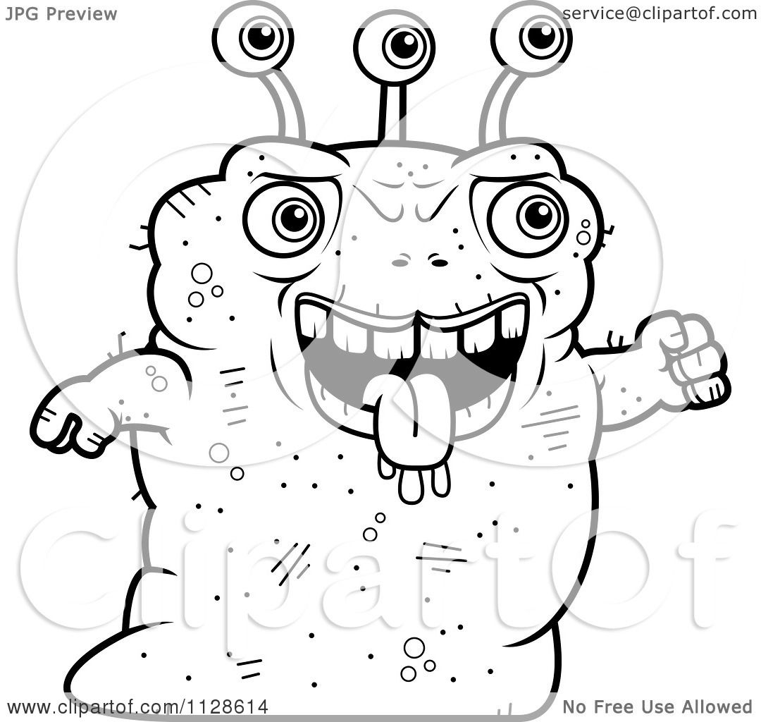 Ugly Cartoon Coloring Pages