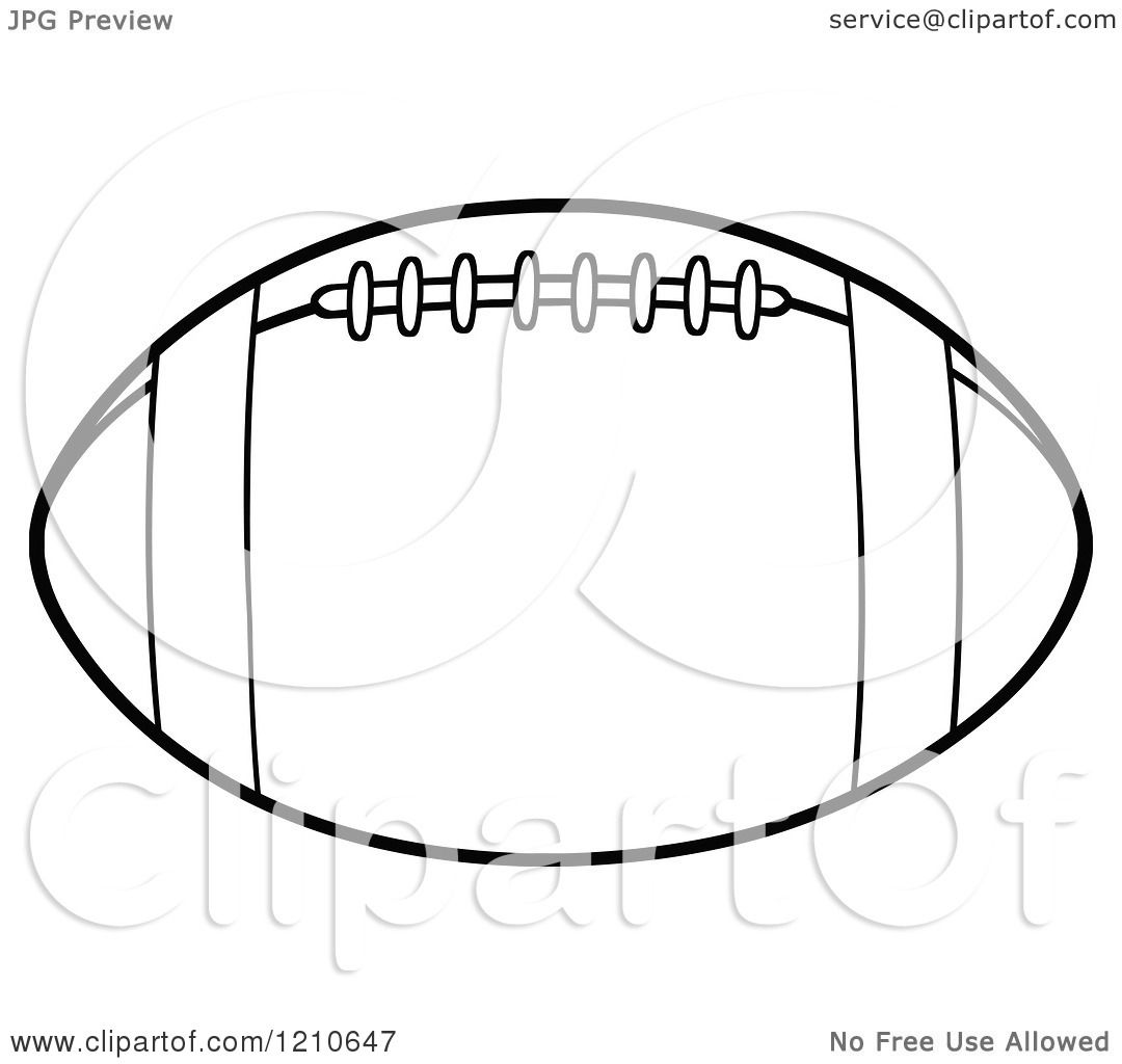Cartoon Of A Black And White American Football
