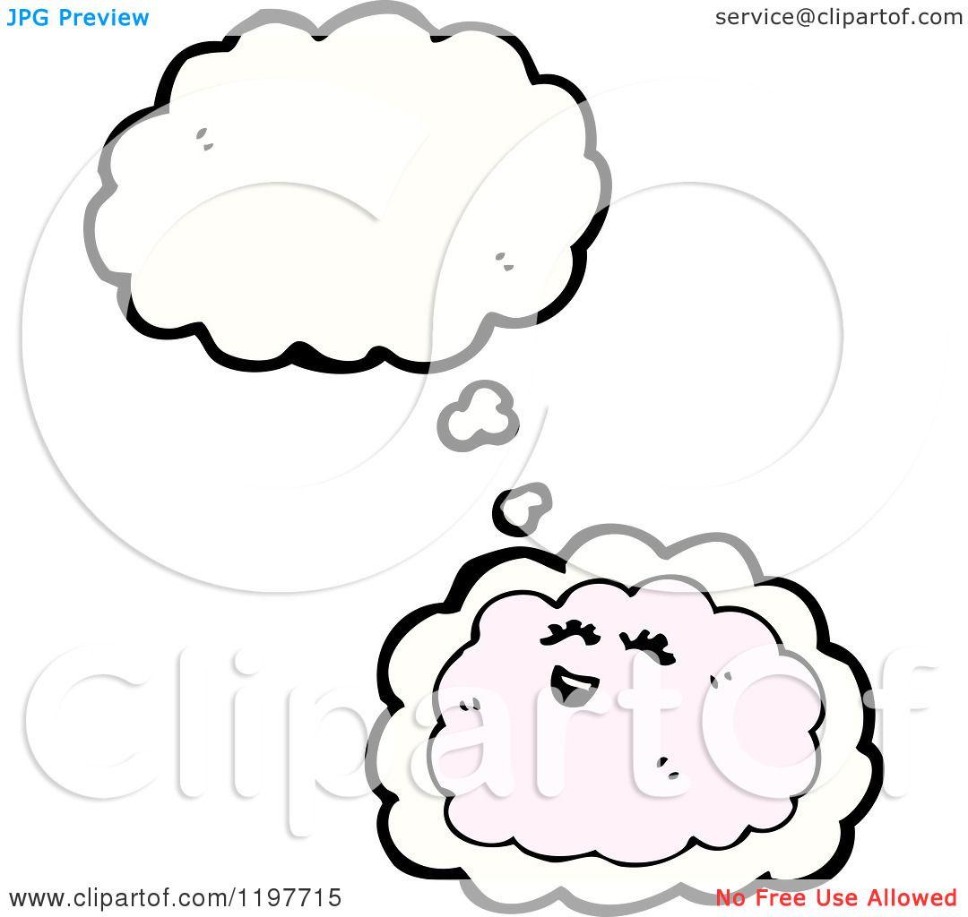 Cartoon Of A Cloud Thinking