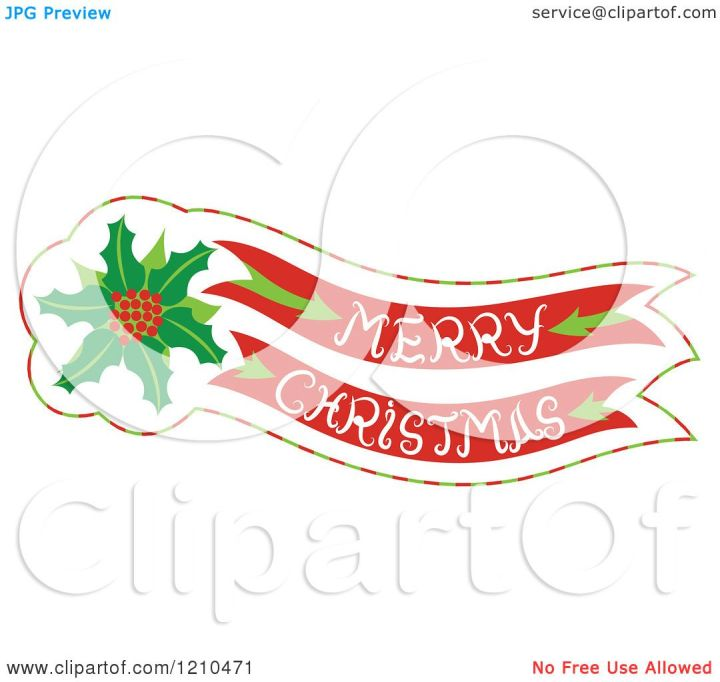 free clipart merry christmas banner - photo #7