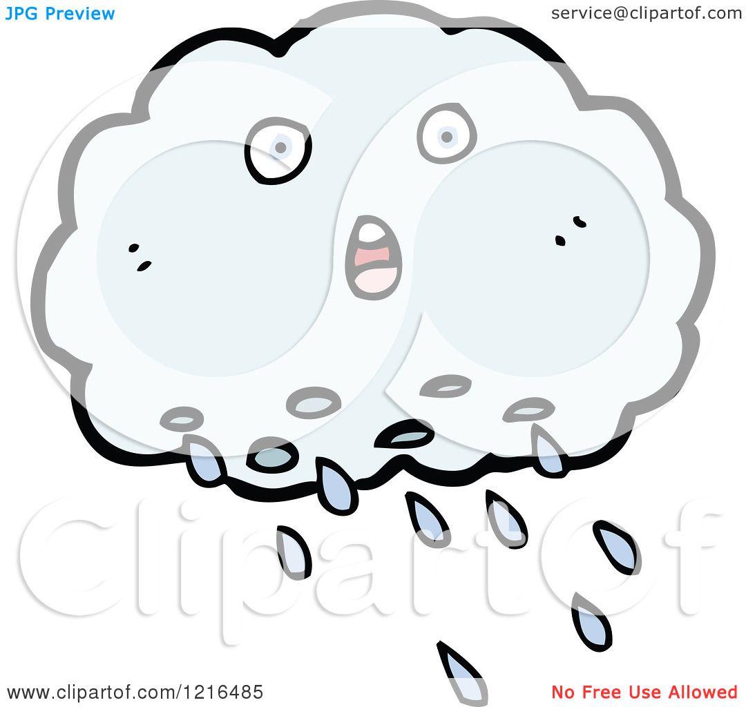 Cartoon Of A Rain Cloud