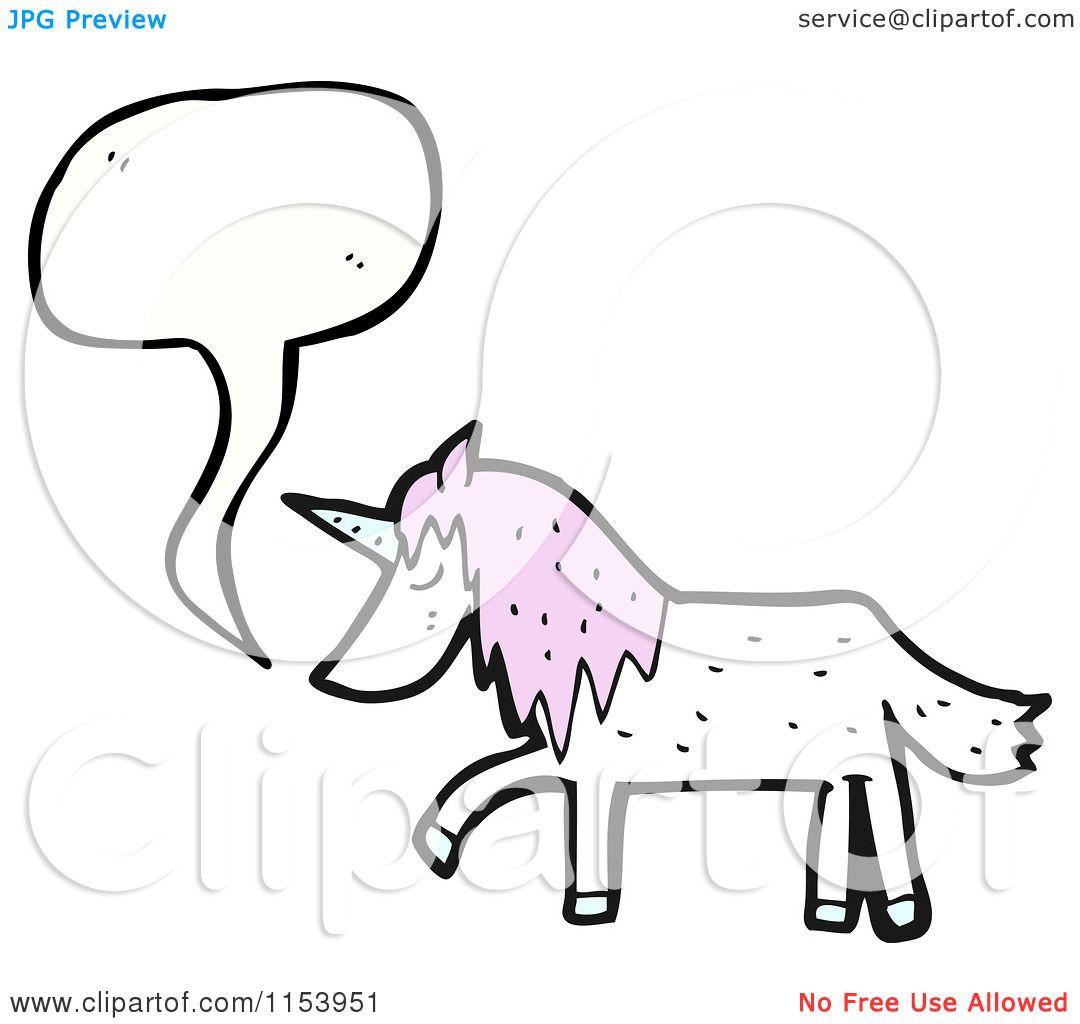 Cartoon Of A Talking Unicorn