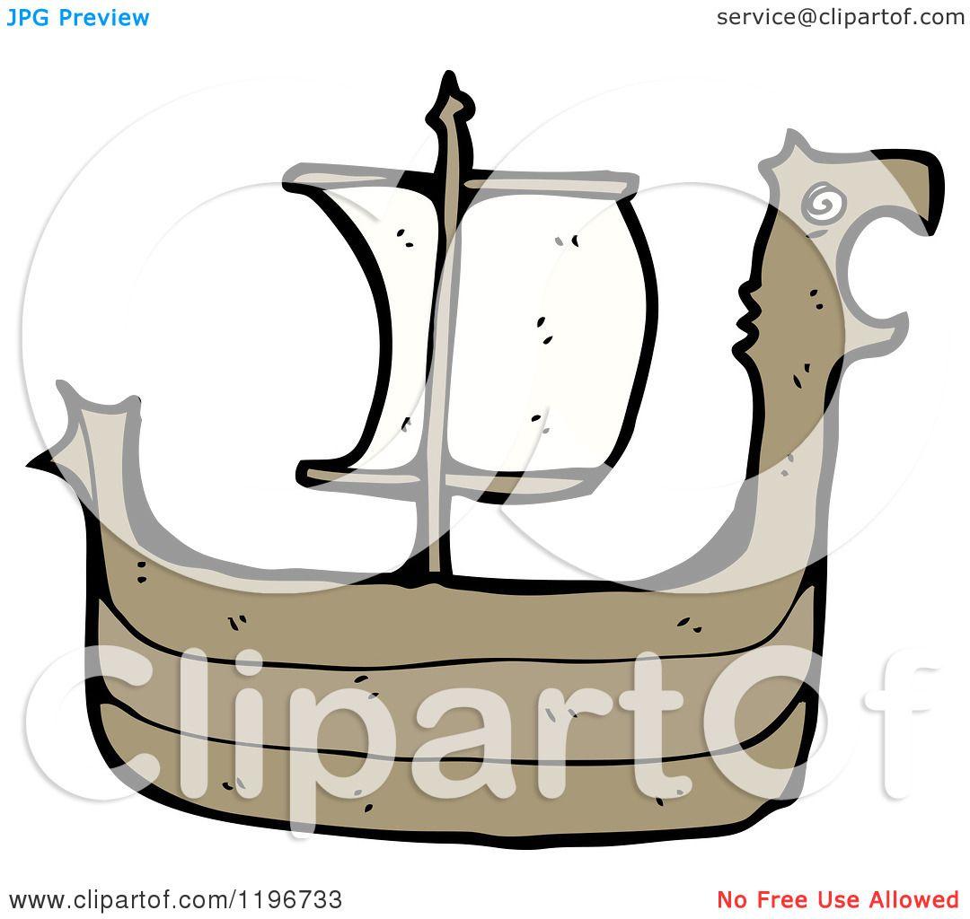 Cartoon Of A Viking Ship