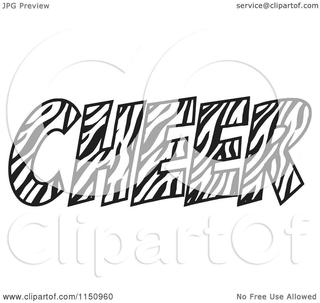 Cartoon Of A Zebra Print Cheer