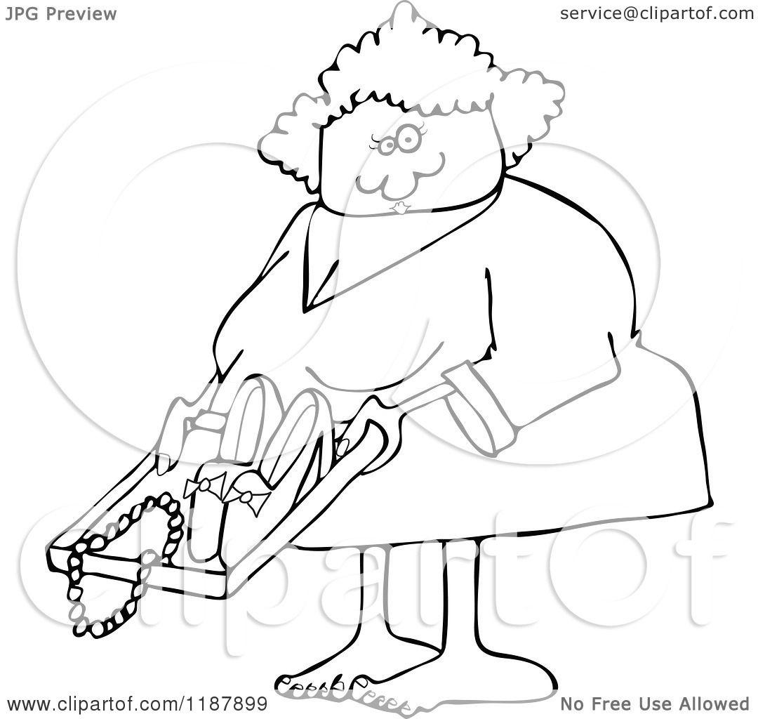 Cartoon Of An Outlined Woman Going Through Airport Tsa