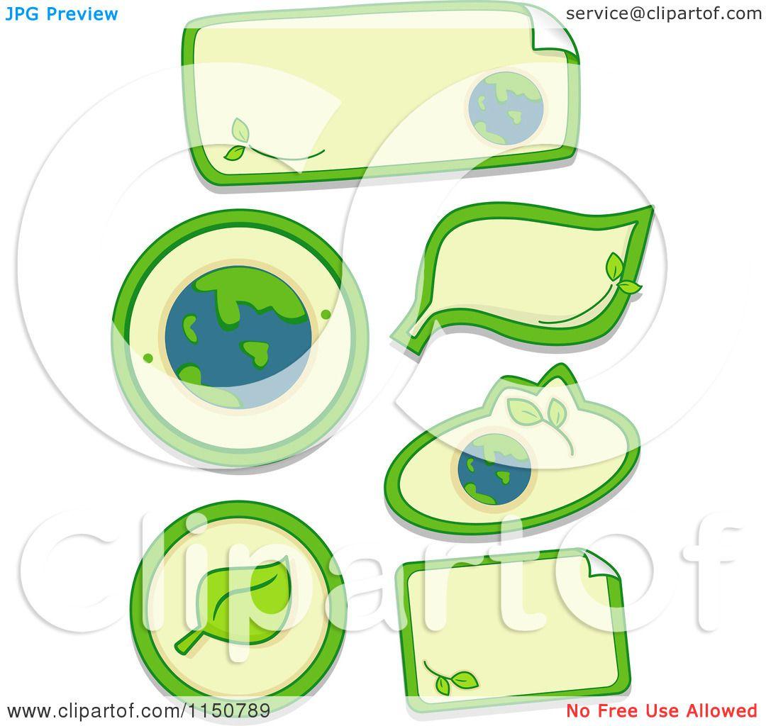 Cartoon Of Ecology Sticker Design Elements