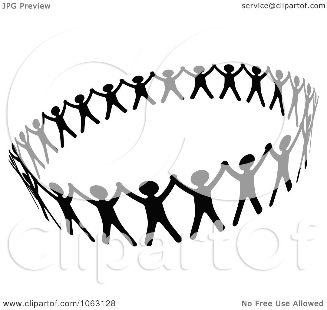 Clipart Black And White People Unified
