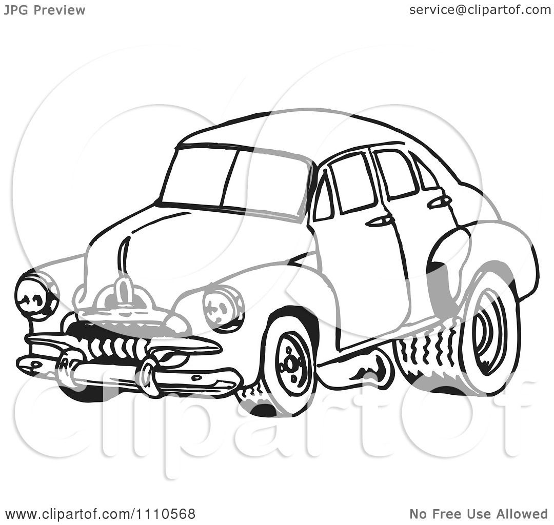 Clipart Black And White Racing Fj Holden Car 1