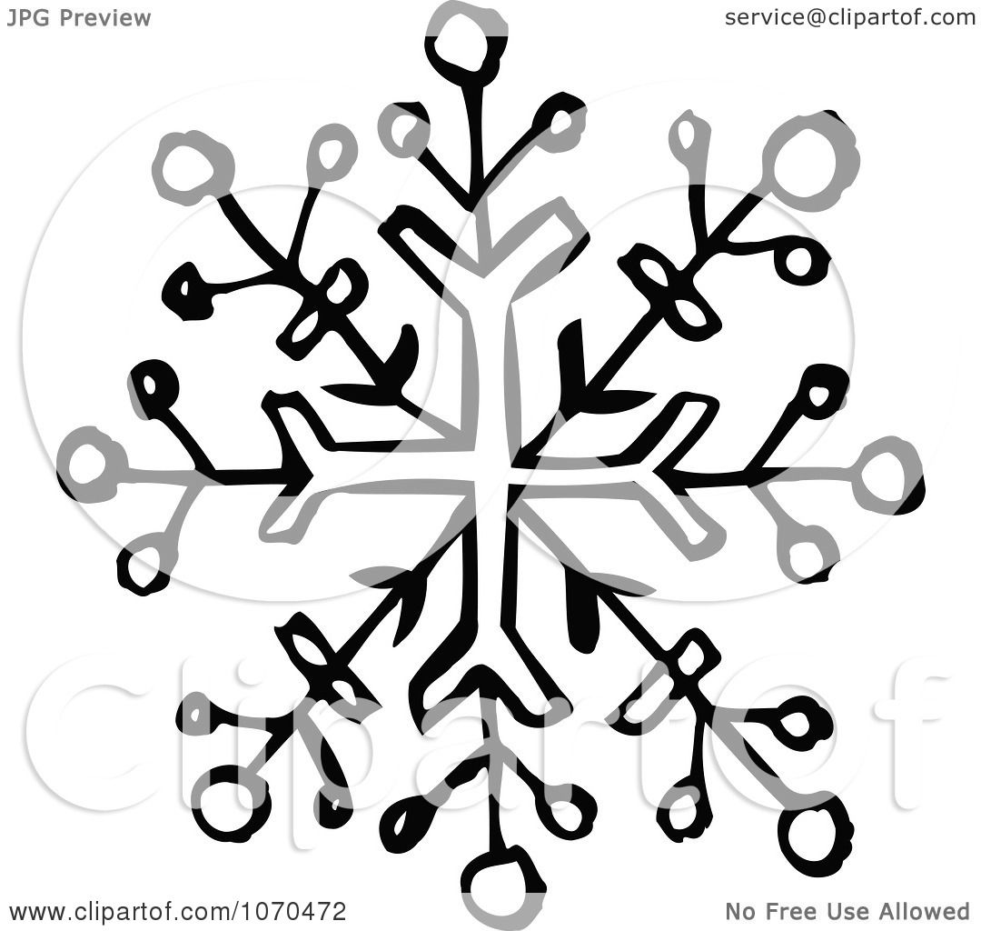 Clipart Black And White Snowflake