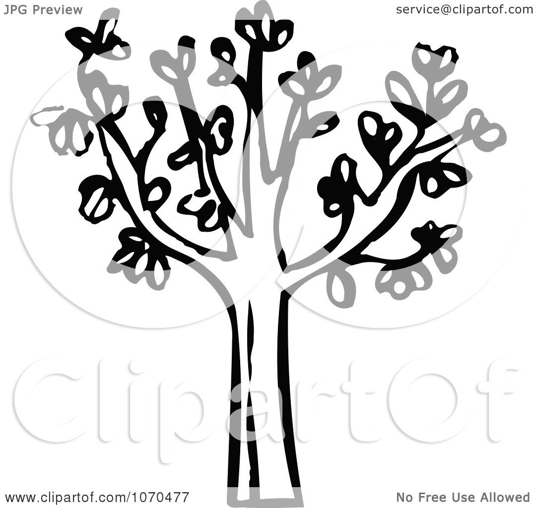 Clipart Black And White Tree