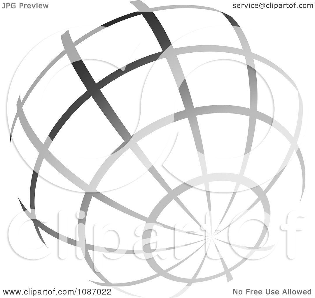 Clipart Gra Nt Gray Wire Globe