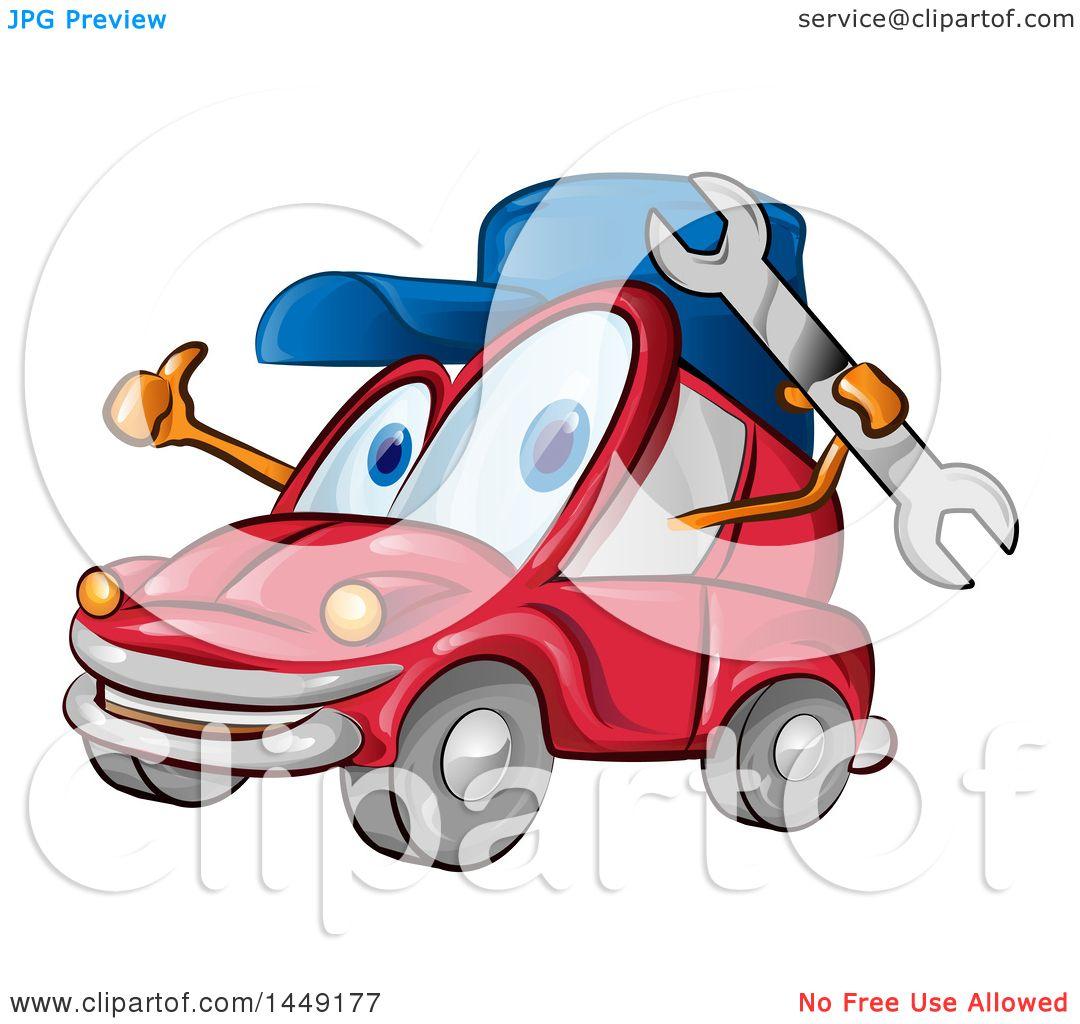 Mechanic Auto Girl Cartoon