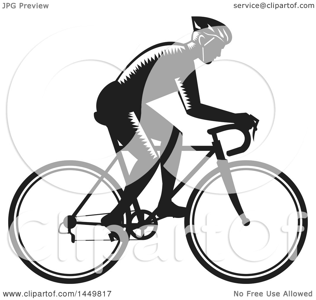 Clipart Graphic Of A Retro Black And White Woodcut Male