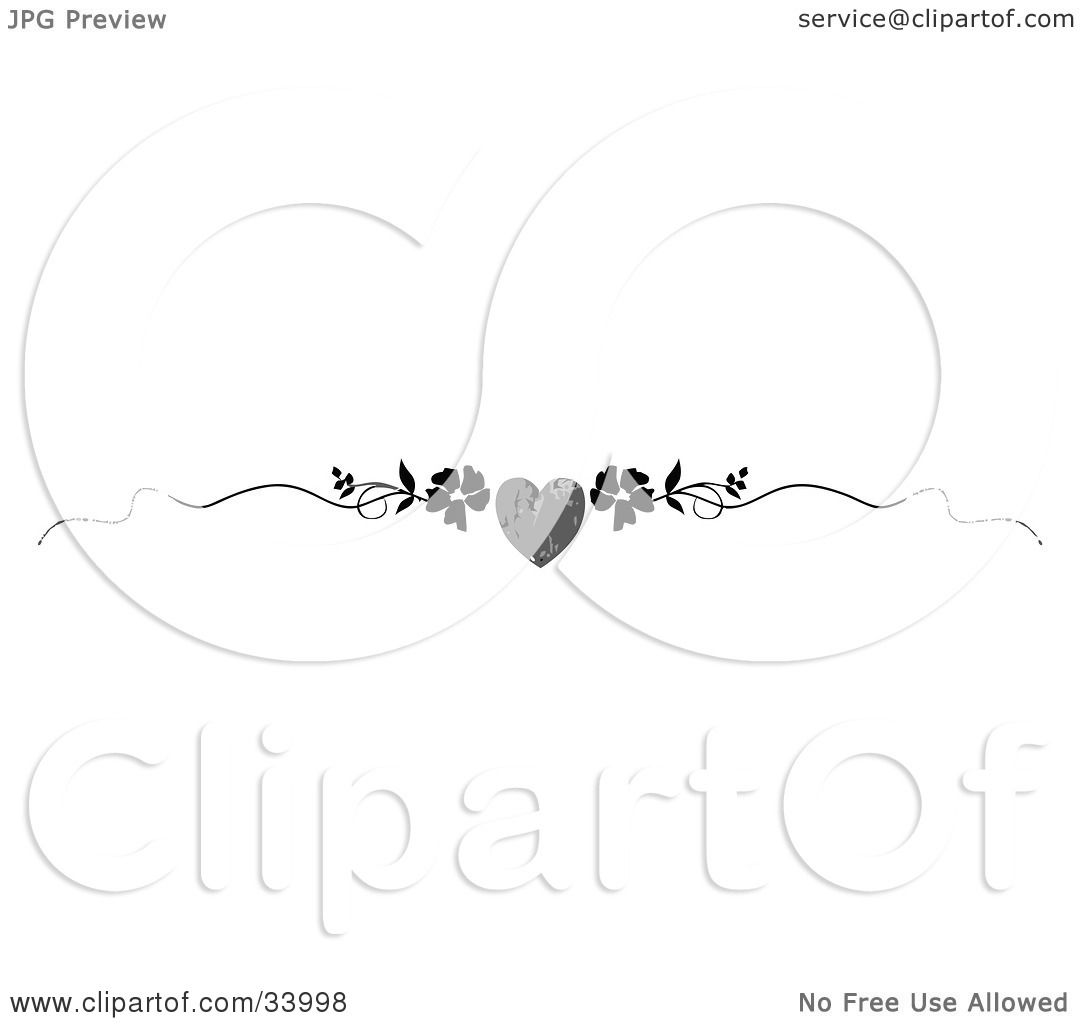Clipart Illustration Of A Black And White Grunge Heart