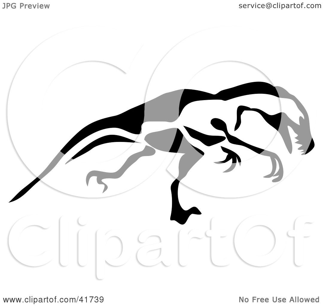 Clipart Illustration Of A Black And White Paintbrush